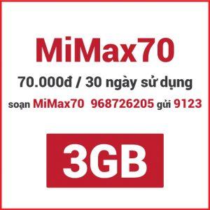 Gói MiMax70 Viettel