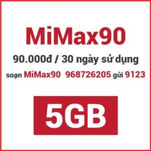 Gói MiMax90 Viettel