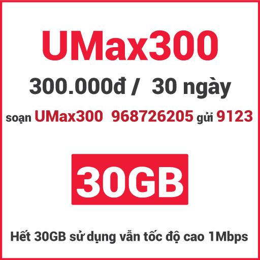 Gói UMax300 Viettel
