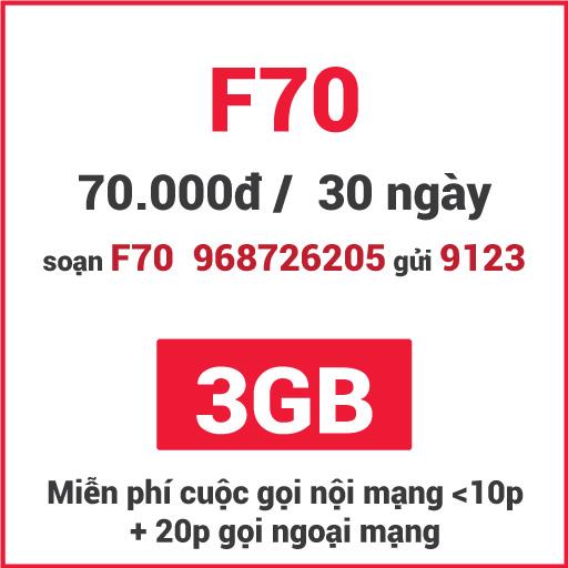 Gói F70 Viettel
